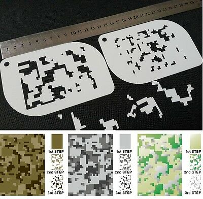 £4.95 • Buy #XS DIGITAL CAMOUFLAGE Camo Pattern Airbrush Stencil Body Face Paint Army Mylar