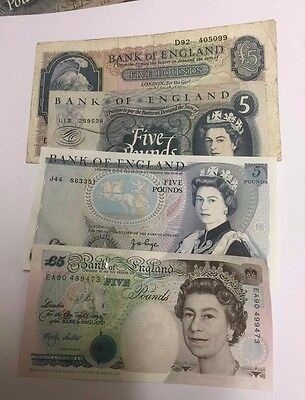English Five Pound Bank Notes Select Your Note And Cashier • 15.99£