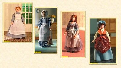 $ CDN18.16 • Buy 1:12 Scale Dolls House Miniature D.H.E. Porcelain Doll Domestics  4  To Choose.
