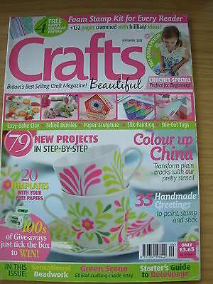 Crafts Beautiful Magazine September 2008 79 Projects Cards Gifts Birthday Beads • 4.99£