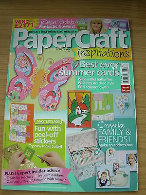 Papercraft Inspirations Craft Magazine July 2008 Art Deco Cards Summer Flowers • 4.99£