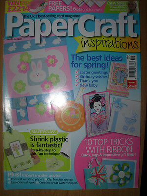 Papercraft Inspirations Magazine Issue 33 April 2007 Easter Special Cards Boxes+ • 4.99£