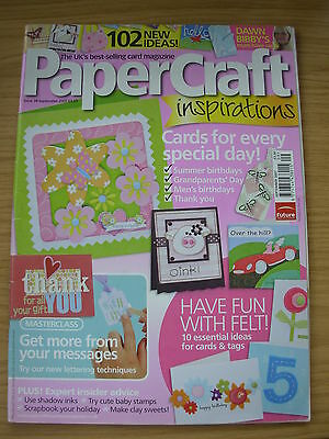 Papercraft Inspirations Craft Magazine Sept 2007 Animals Stamping Music Letters • 4.99£