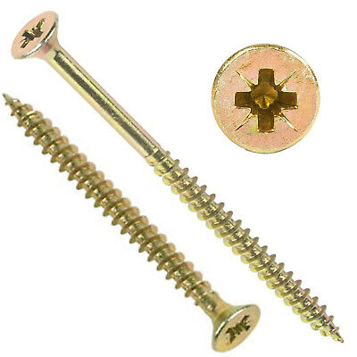 £15.85 • Buy PACKS OF 1000, 9g (4.5mm) PROFESSIONAL TIMCO YELLOW WOOD SCREW POZI COUNTERSUNK