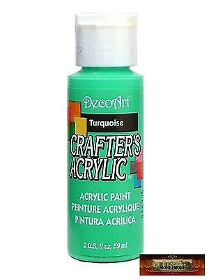 M01434 MOREZMORE DecoArt TURQUOISE Teal Crafter's Acrylic All Purpose Paint • 2.07£