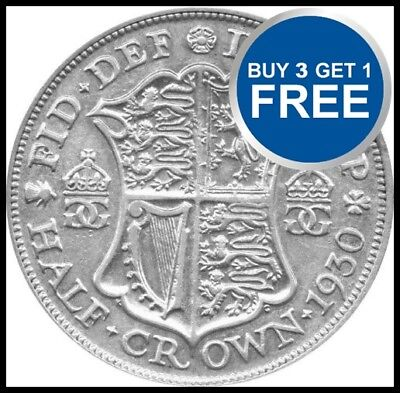 £8.99 • Buy 1920 To 1936 George V Silver Half Crowns Choice Of Year / Date
