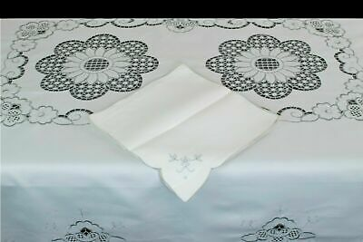 $65 • Buy 72x144  Organza Ivory Gold Embroidered Lace Floral Cutwork Rectangle Tablecloth