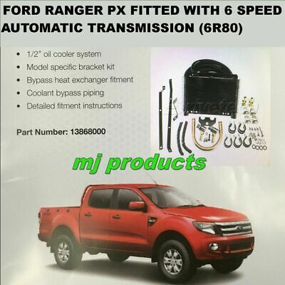 AU440 • Buy Ford Ranger PX  6 Speed  (6r80)  Automatic Transmission Oil  Cooler Kit DIY 1...