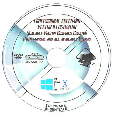Professional Freehand Vector Illustration Software Suite + FREE EXTRAS & MANUAL! • 1.80£