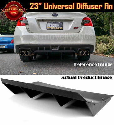 $61.98 • Buy 23  X 9  ABS Black Universal Rear Bumper 4 Fins Curved Diffuser Fin For   Nissan