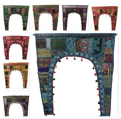 Indian Tapestry Wall Hanging Door Window Patchwork Ethnic Patchwork Quick Post • 14.99£