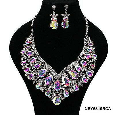 $32.99 • Buy Indian Bollywood Style Fashion  Bridal Jewelry Necklace Set, Style NBY6319BAB