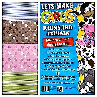Complete CHILDRENS Lets Make Cards  Kit, Very Easy Cut & Create Decoupage • 4.99£