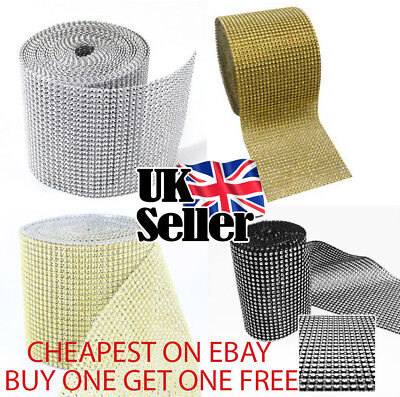 80CM Sparkly Diamond Diamante Effect Ribbon Cake Card Trim Bridal Sewing UK • 1.50£