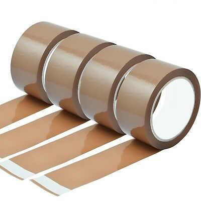 £7.54 • Buy Strong Brown Parcel Packing  Packaging Tape Cellotape Carton Sealing 48mm X 66m