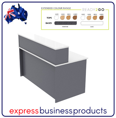 AU389 • Buy Ready 2 Go Straight Reception Desk - Assorted Colours And Dimensions *FREE POST*