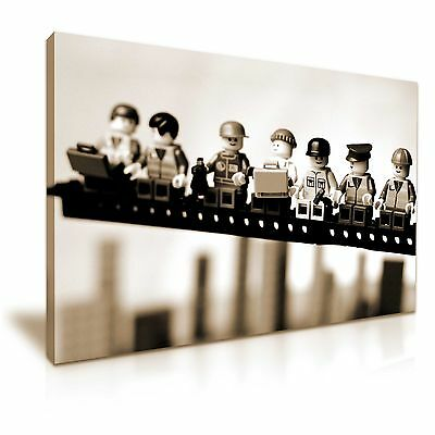 £28.99 • Buy Lego Lunch Atop A Skyscraper Funky Canvas Wall Art Picture Print 76x50cm