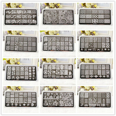 AU3.69 • Buy BORN PRETTY Nail Art Stamping Plates Image Stamp Stencils Templates Flowers Tool