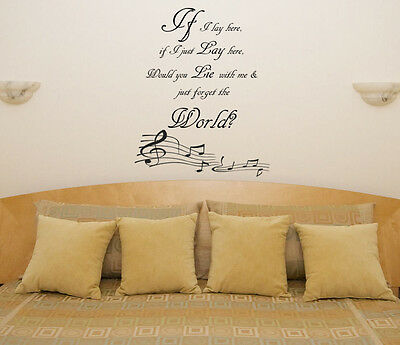 If I Lay Here Snow Patrol Music Lyrics Song Room Decal Wall Art Sticker Picture • 15.58£