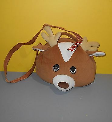 $14.44 • Buy New Bagimals Brown Reindeer Stuffed Plush Tote Purse From Ganz HB314