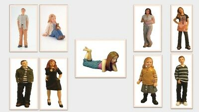 1:12 Scale Dolls House Miniature Resin Young Modern People 9 To Choose From. • 6.95£