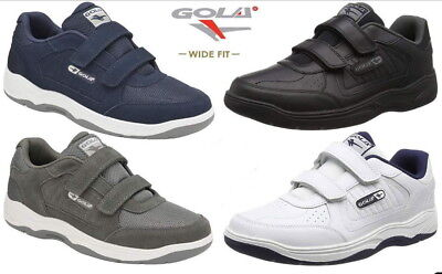 Gola Belmont Wide Fit EE Mens Suede Or Leather Trainers Size 7-15 UK • 29.99£