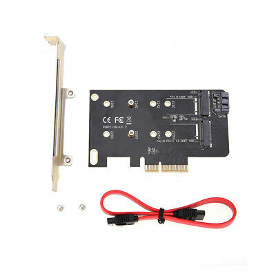 AU17.95 • Buy Dual M.2 (B Key And M Key) To PCI-E X4 And SATA 6G Expansion Card Adapter