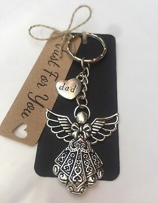 Guardian Angel * Dad * Keyring*Bereavement *memorial * Gift * Fathers Day • 5.75£