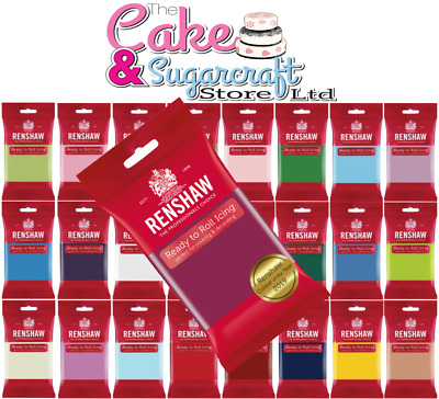 Renshaw Ready To Roll Icing 250g, 500g, 750g, 1kg - All Colours Free Post • 2.49£