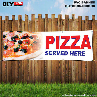 £25.99 • Buy PIZZA SERVED HERE Shop Large Indoor And Outdoor PVC Banner Sign ID 1927