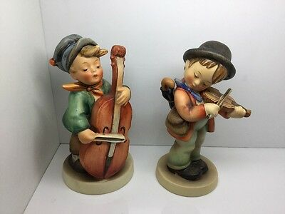 $169 • Buy Reduced!!! M J Hummel Boy With Musical Instruments Figurines (set Of 2)