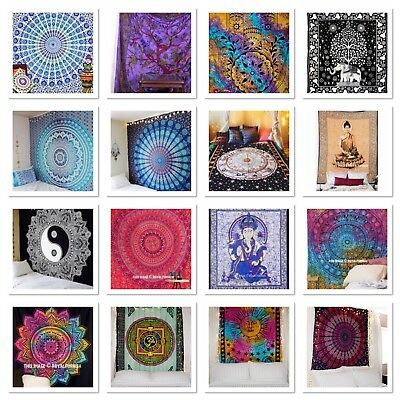 Indian Tapestry Wall Hanging Mandala Hippie Gypsy Bedspread Throw Bohemian Cover • 14.99£