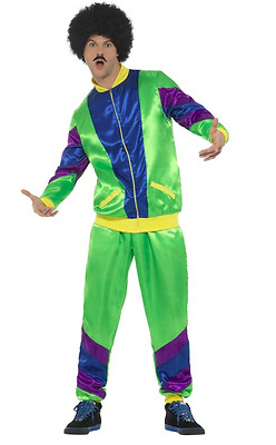 Men's 1980s Height Of Fashion Fancy Dress Shell Suit Costume Tracksuit Scouser • 32.75£