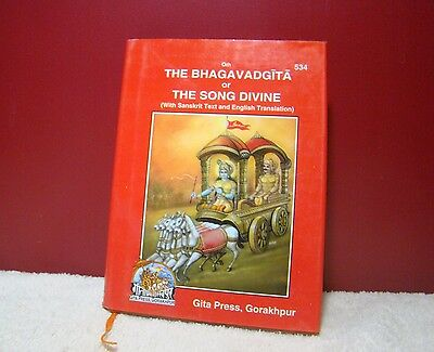 AU12.82 • Buy Shrimad Bhagavad Gita Geeta Gita Press English Edition Hindu Holy Book Free Ship