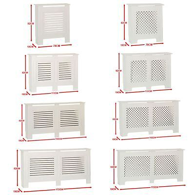 Radiator Cover White Traditional Modern MDF Wood Cabinet Grill Furniture Sizes • 37.95£