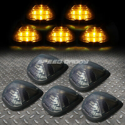 $30.88 • Buy For 99-16 Ford Superduty 5pcs Smoked Yellow Led Cab Roof Running Light+harness