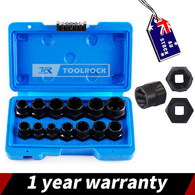 AU37.55 • Buy Toolrock 13Pcs Damaged Bolt Screw Remover Tools Nut Extractor Screw Removal Tool