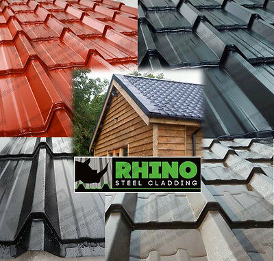 Tiled Roofing Sheets For Log Cabins Summer Houses Mobile Homes Steel/Metal Roof • 30.24£