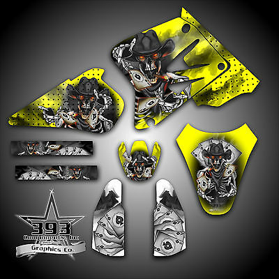 $99.99 • Buy Suzuki RM 85 2001-2017 2 STROKE GRAPHICS KIT STICKERS WRAP DECALS OUTLAW SKULL