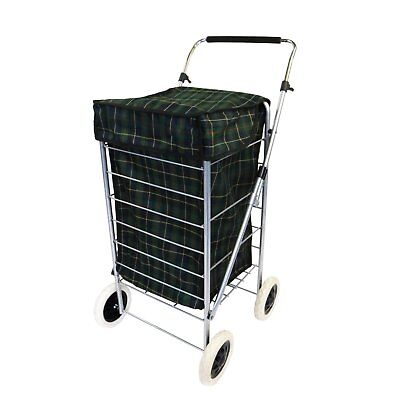 NEW! 4 Wheel Folding Shopping Mobility Trolley Bag Cart Market Laundry • 22.99£