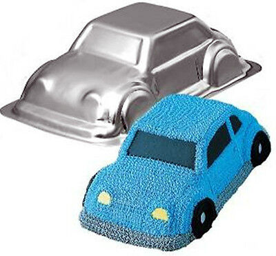 Reduced 3d Car Cruiser Cake Novelty Tin Pan Beetle Pass Driving Cake Decorating  • 8.95£
