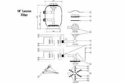 Spare Parts For 18 Inch Swimming Pool Lacron Filter • 66£