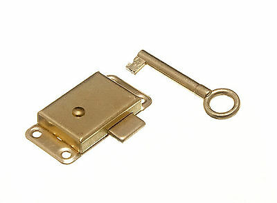 £3.39 • Buy New Wardrobe Cupboard Door Lock And Key Drawer Cabinet Catch Small Or Large