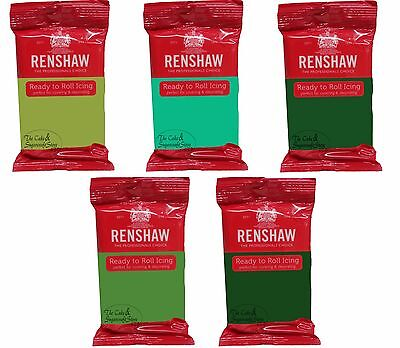 Renshaw Ready To Roll Icing Green Colours • 3.55£