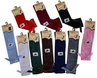 6 Girls Knee High School/Occasion Bow Socks 80% Cotton Children Kids 1/3/6 Pairs • 5.99£