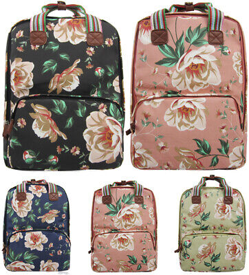 Shoppingstop Ladies Oilcloth Backpack Rucksack School College Shoulder Laptop Ba • 15.95£