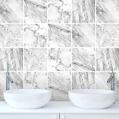 £1.89 • Buy Tile Stickers Decals Marble Bathroom Kitchen DIY Various Sizes - M1