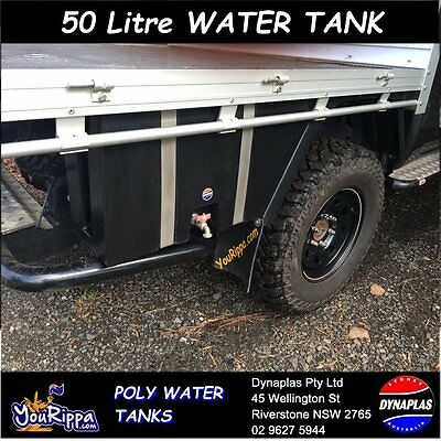 AU299 • Buy Large Black Ute Underbody Poly Tray Top Water Tank 50 Litre 4x4 4wd Soap Holder