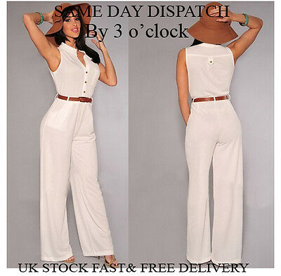 Womens Summer Holiday Ladies Jumpsuit Evening Party Playsuit Ladies Vincenza UK • 7.99£