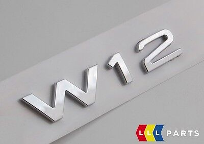 New Genuine Vw Touareg Chrome W12 Trunk Boot Lid Badge Emblem 7l6853675d  739 • 29.99£